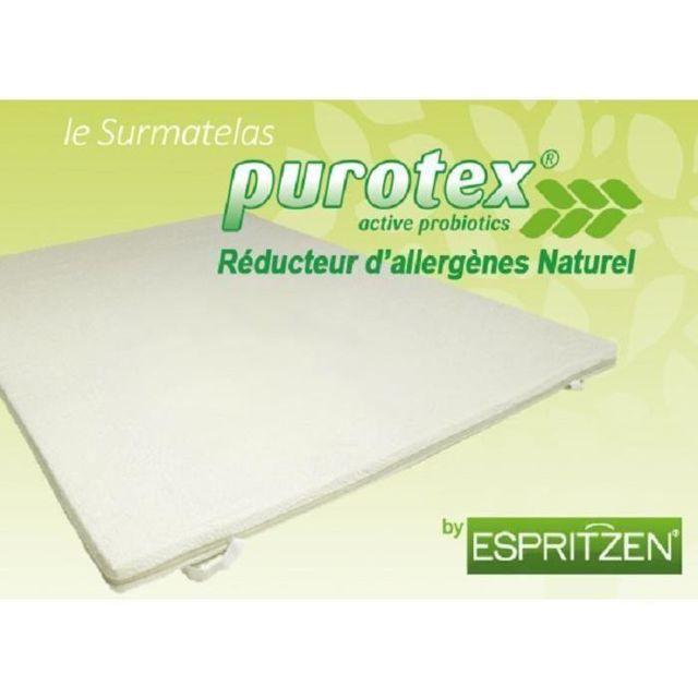Greenbed Surmatelas mémoire de forme Purotex 160x200cm de 6cm d'épaisseur perforé pour mieux respirer. Purotex active probiotics,