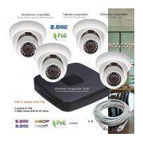 Dahua - Système Ip de video surveillance Ip avec 4 caméras dômes Capacité du disque dur - Disque dur de 1 To