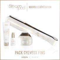 L'OREAL - Pack Steampod 2.0 - Nouvelle Génération + Sérum + Crème de lissage cheveux fin