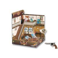 Edison - S.P.A 64932 - Jeu De Tir - Set De Jeu 3D Dodge City - Revolver - 8 Coups Avec Cibles Et 10 Amorces - 28 Cm