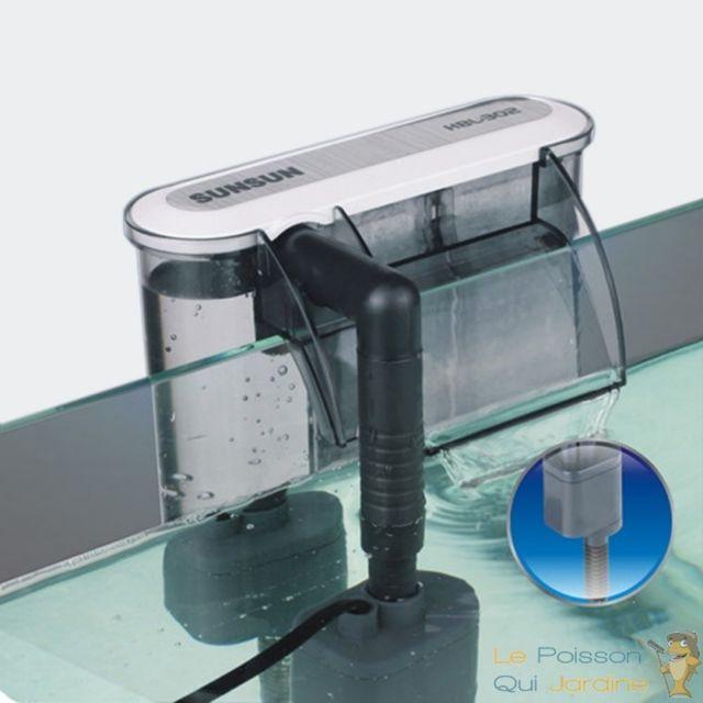 Aqua Occaz Filtre Suspendu 350/h pour aquarium jusqu'à 60 litres