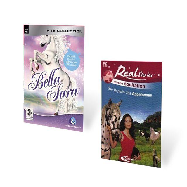 Pack 2 jeux real stories sur la piste de appaloosas bella sara pc achat jeux pc dans le rayon - Jeux de bella sara ...