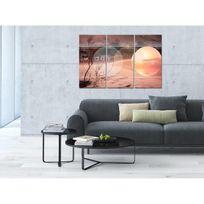 Aucune - Tableau Déco Triptyque Déco Sunday - 120x80 cm