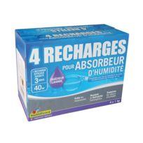 Humidivore - Recharge absorbeur - lot de 4 - lavande - 1 Kg
