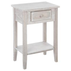 atmosphera chevet 1 tiroir charme bois gris aspect vieillit pas cher achat vente chevet. Black Bedroom Furniture Sets. Home Design Ideas