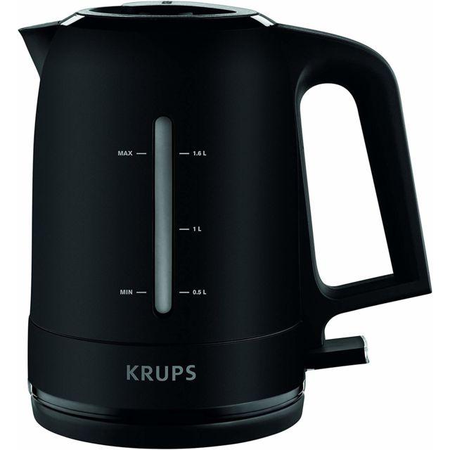 Krups bouilloire électrique de 1,6L sans fil 2400W noir