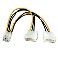 Cabling - Cable Molex 2x4Pin-M > Pci-express 6Pin-H