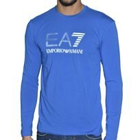 Armani - Ea7 Emporio - Tee Shirt Ml - Homme - Train Soccer Ml - Bleu Royal