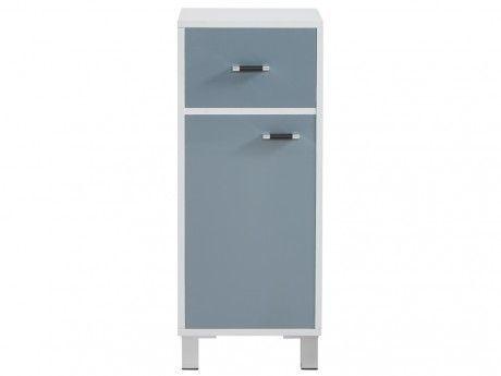 Marque generique meuble bas de salle de bain avec rangements platoon 32x30x78cm gris pas for Marque meuble salle de bain