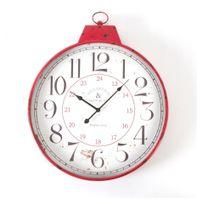 Jja - Horloge bistro rouge