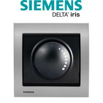 Siemens - Va et Vient Variateur 500W Anthracite Delta Iris + Plaque Métal Alu Silver