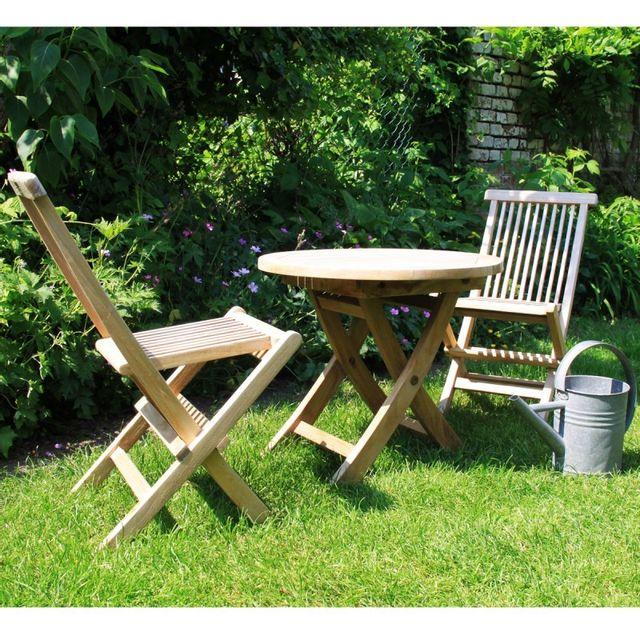 Bois dessus bois dessous salon de jardin en bois de teck pour enfant pas cher achat vente - Table jardin enfant bois ...