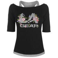 Lagear - T-shirt avec Gilet Femme Floral