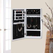 Rocambolesk - Superbe Armoire à bijoux armoire de rangement mural avec serrure Jbc51W neuf
