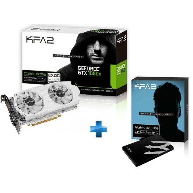 KFA2 - GeForce 1050 Ti EXOC White 4GB + -GAMERL-120GB-TLC S11