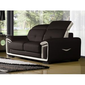 la maison du canap canap cuir 2 places hamilton. Black Bedroom Furniture Sets. Home Design Ideas