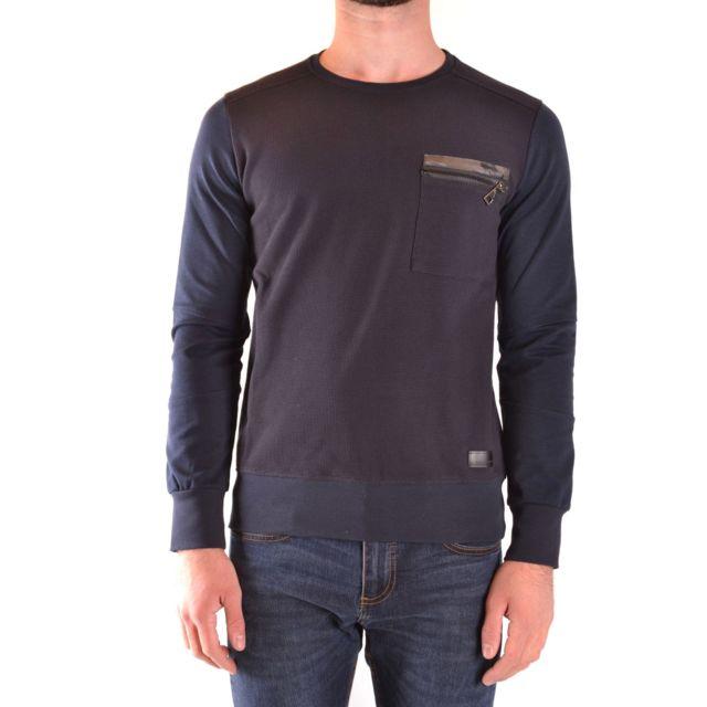 Messagerie Homme Mcbi39053 Bleu Coton Sweatshirt