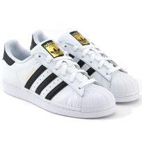 Superstar Fondation C77154 Blanc - Noir - Or-Adidas, superstar, c77154, blanc, femme