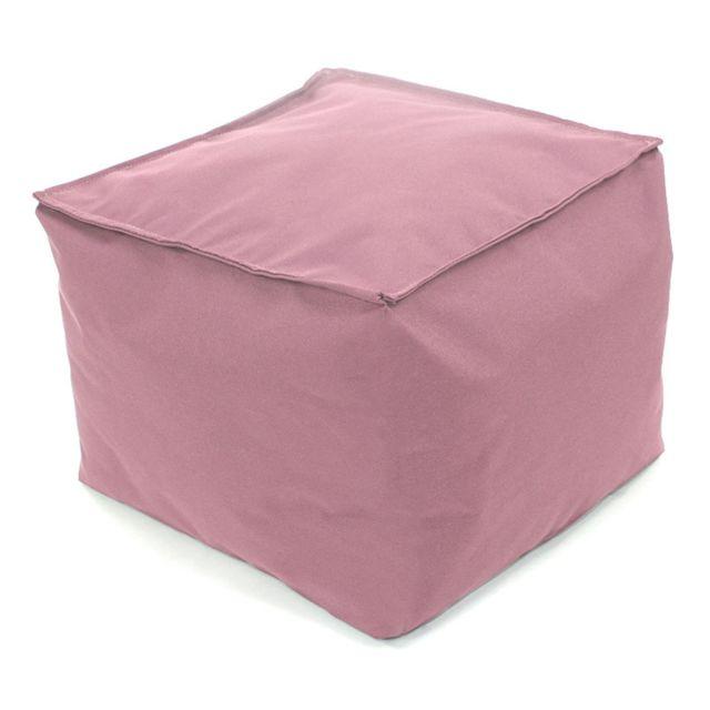 mon beau tapis pouf carr rose poudr int rieur ext rieur 30x30x25cm pas cher achat vente. Black Bedroom Furniture Sets. Home Design Ideas