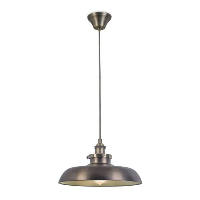 Leds C4 Suspension Vintage, acier et verre, bronze