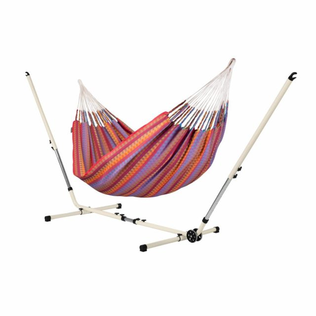 la siesta carolina flowers hamac double avec support. Black Bedroom Furniture Sets. Home Design Ideas
