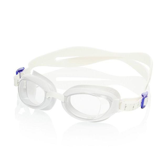 f94c7d02d1d211 Speedo - Lunettes de natation Speedo Aquapure blanches avec des verres  transparents femme