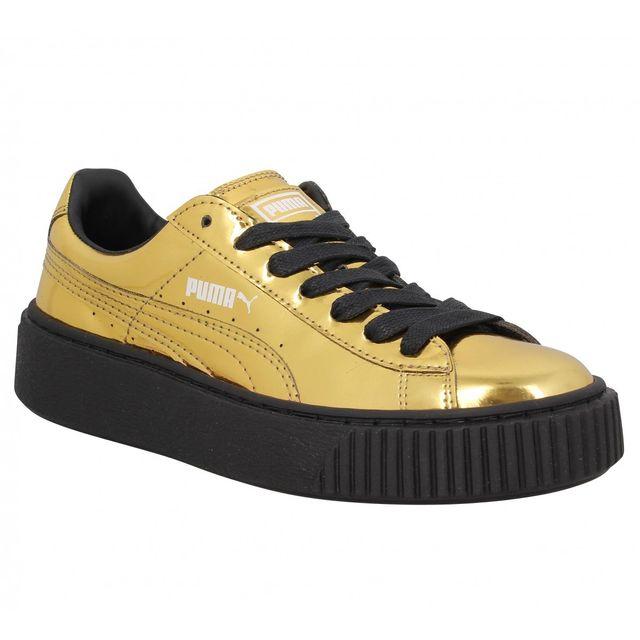 Puma Platform 40 Vente Gold Basket Metallic Pas Cher Achat vvnaWFxfwr