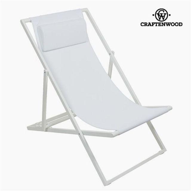 Craftenwood Chaise de jardin Aluminium Textilène Blanche by