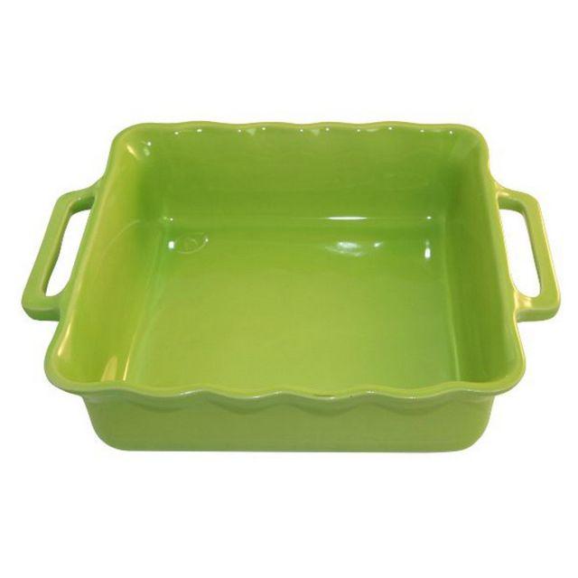 APPOLIA plat carré céramique 34.5cm citron vert - 140034527