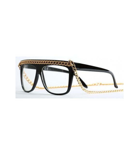 df9344e631 Magic custom - lunettes verre transparent avec chaine or Sm008 -8014 - pas  cher Achat / Vente Lunettes Sport - RueDuCommerce