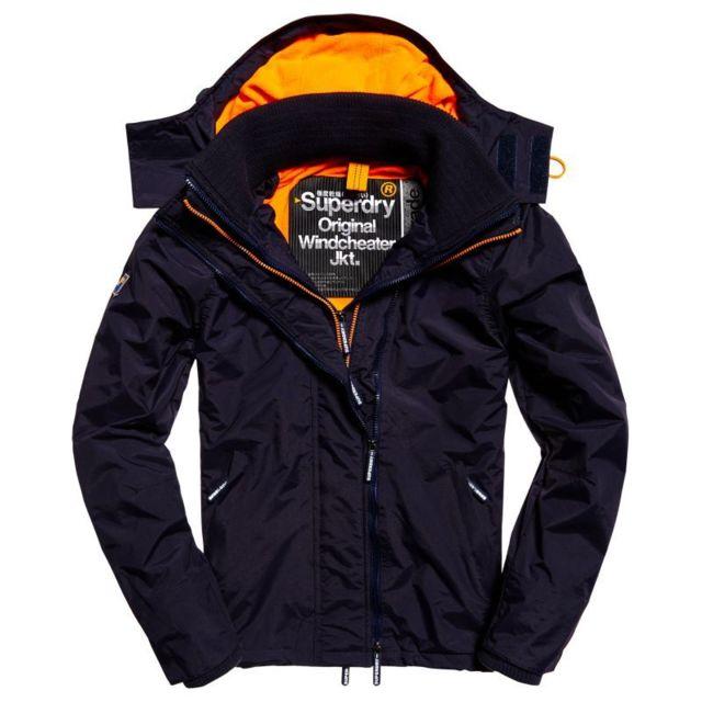 Superdry Pop Zip Hood Arctic Wndcheater Veste de Sport Homme