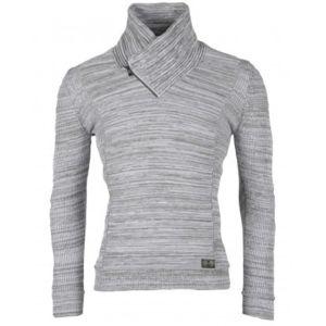 pull homme gris,Pull en laine homme classe gris 7090 999817e98fca