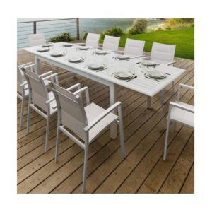 Hesp ride table extensible aluminium azua 12 personnes - Table de jardin hesperide azua ...