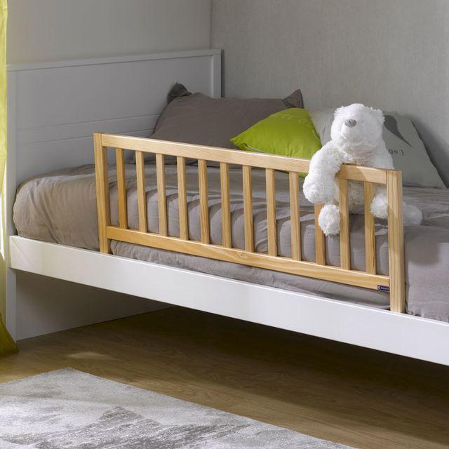 ik idkids barriere de lit enfant en bois naturel - Lit Enfant Pas Cher