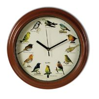 Horloge murale à oiseaux musicale melodie