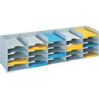 Paperflow - Bloc de classement 25 cases gris