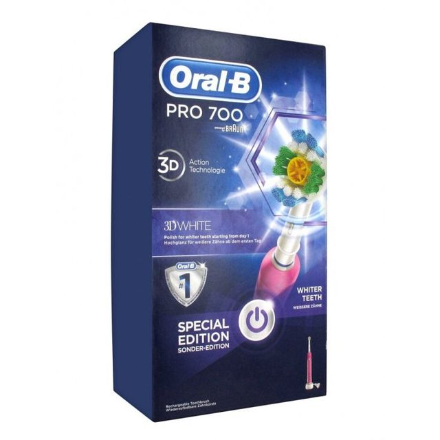 Oral-b Pro 700 3D White and Clean Brosse à Dents Electrique