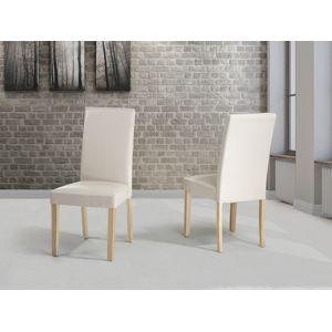Beliani chaise de salle manger chaise en cuir - Chaise en cuir beige ...