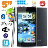 Yonis - Smartphone Octa Core 5 pouces double Sim Android débloqué 16Go Noir