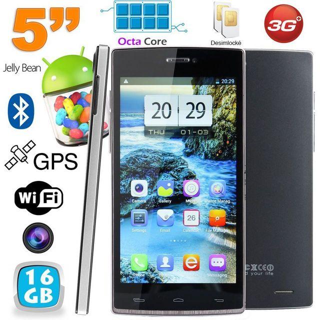 Yonis Smartphone Octa Core 5 pouces double Sim Android débloqué 16Go Noir