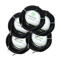 Pronomic - Stage Insts-10 câble jack 10 m stéréo, lot de 5