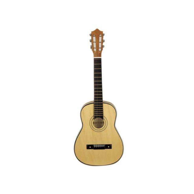 BONTEMPI Guitare enfant en bois 75 cm Guitare en bois enfant 75 cm BONTEMPI. Véritable instrument avec 6 cordes en nylon, livré avec une méthode musicale et un médiator. A partir de 5 ans.