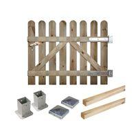 Cemonjardin - Portillon kit en bois Coquelicot à fixer