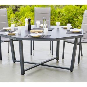hyba table octogonale canberra gris 166cm x 74cm x. Black Bedroom Furniture Sets. Home Design Ideas