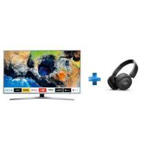 Samsung - TV LED 55'' 139cm UE55MU6405 + Casque à arceau bluetooth Noir - T450 BT