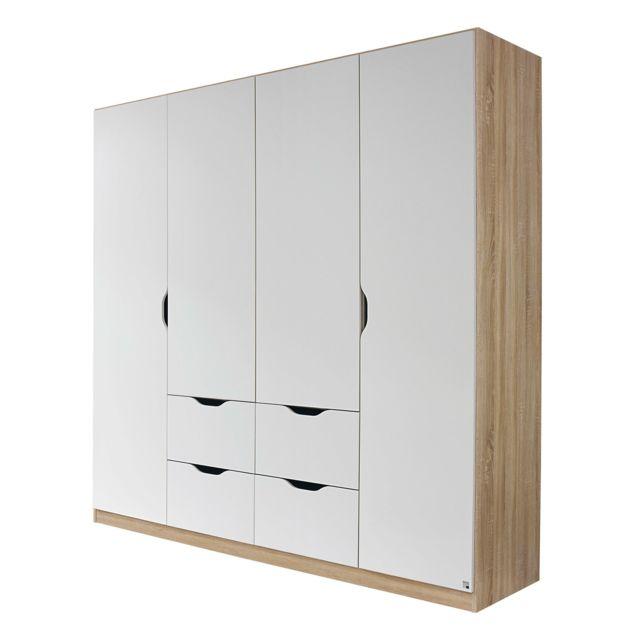 Autre - Armoire 4 portes 4 tiroirs - bois - pas cher Achat / Vente ...