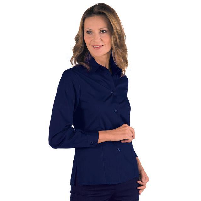 isacco chemise femme manches longues kyoto bleu vermillon pas cher achat vente v tements d. Black Bedroom Furniture Sets. Home Design Ideas