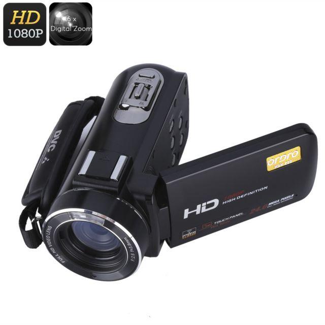 Shopinnov Camescope numerique Hd 1080P Zoom numerique 16x Stabilisateur Capteur 8MP WiFi Ce camescope numerique Wi-Fi vous permet de capturer tous ces moments spéciaux et mémorables de la vie dans une résolution Full Hd de 1080p