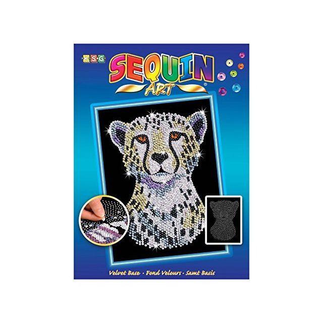Sequin Art Blue Snow Cheetah Arts and Crafts Kits