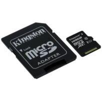 KINGSTON - Carte Micro SDXC 128Go - avec adaptateur SD